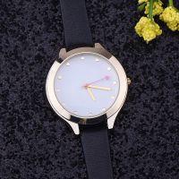 时尚极简女表 英伦风商务休闲时装手表 防水皮带石英表学生手表