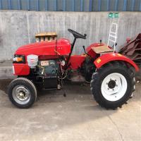 新型20马力单缸皮带传动电启动小型拖拉机 大棚王四轮旋耕机批发