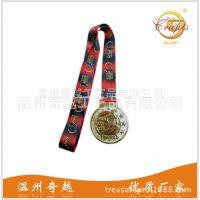 奖牌工厂直销双色电镀跑步奖牌 镀金镀银两色马拉松比赛纪念奖章