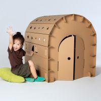 临沂儿童瓦楞纸房子涂鸦包创意手工制作DIY亲子色拼插玩具游戏屋