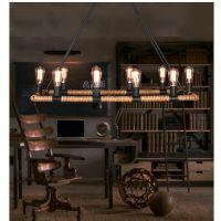 复古工业风创意主题餐厅吧台灯具美式酒吧咖啡厅网咖麻绳吊灯灯饰