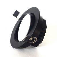 灯嵌入式欧式美式全黑色LED天花筒灯3W5W7W10W12W15W护眼防雾罩筒