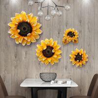 欧式墙体树脂壁挂 客厅墙上装饰挂饰 创意玄关 餐厅立体浮雕墙饰向日葵