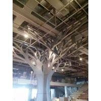 商场中心大堂铝树造形天花设计定制厂家