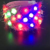 新款发光花环闪光发卡 带灯发光儿童头饰 舞会派对装扮饰 批发