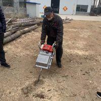 锯齿国产动力挖树机 一分钟一颗树链条起树机