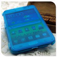 三星Note1透明保护套 i9220手机tpu翻盖 可触屏