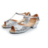 新款儿童拉丁舞鞋中跟成人夏季国标舞蹈鞋交谊摩登舞广场舞鞋软底