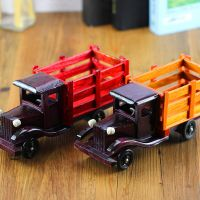 厂家直销创意木制工艺品仿真10寸大卡车汽车模型家居摆设品批发