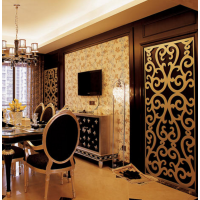 江西波浪板厂家专业定制简易安装高档大气雕花板隔断板装饰板