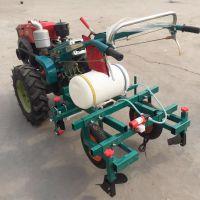 定制烟叶地膜覆膜机 多功能农作物喷药铺膜机 牵引式花生玉米扣膜机