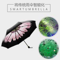 智能雨伞方案手机智能APP晴雨两用防辐射遮阳伞多功能太阳伞开发