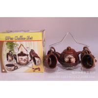 批发零售陶瓷咖啡壶五角星功夫茶具 套装创意礼品促销 赠品套装