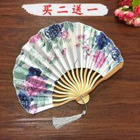 龙骨刀扇中国风女式古典扇子 古风小折扇迷你日式和风 舞蹈扇子