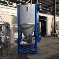华阴不锈钢立式草坪填充颗粒搅拌机1吨聚酯破碎料拌料机尼龙加纤混料机