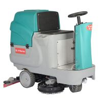 地下停车场固化地坪清洗车电动驾驶式吸水拖地一体机物业保洁用