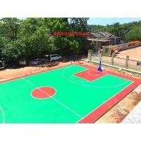 株洲公园塑胶篮球场标准尺寸,炎陵县小区篮球场彩色地胶施工