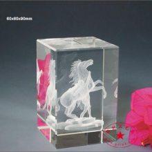 赛马场开业典礼水晶礼品,水晶方块小礼品定做,可带灯光底座
