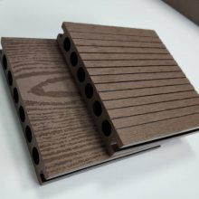 150*25圆孔压花塑木地板园林绿化休闲平台别墅露台阳台