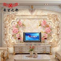 欧式电视背景墙瓷砖 可定制造型背景墙瓷砖 新欧式石纹包边瓷砖