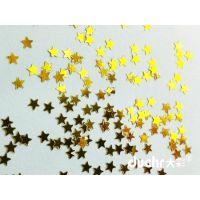 七彩各规格异形金葱粉五角星亮片优质PET装饰品用金葱粉亮片