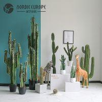 北欧热带大型仿真仙人掌盆栽摆件家居装饰落地绿植盆景仙人柱植物