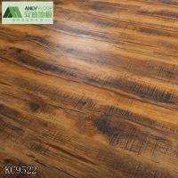 常州厂家供应岁月痕迹强化复合地板环保家装办公防潮木纹地板12mm