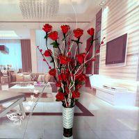 叶脉干花客厅落地假花仿真干枝插花新房玫瑰居家玄关装饰包邮