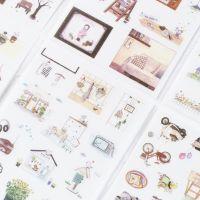 休闲时光生活装饰贴纸手帐相册装饰贴纸PVC透明可爱小贴画