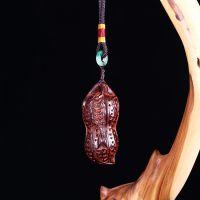 汽车钥匙挂件木质纯手工印度小叶紫檀手机链红木创意雕刻小工艺品