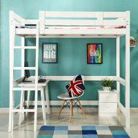 包邮原木实木高架床高低床上下床多功能组合床书桌床单双