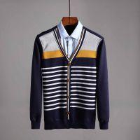 品牌剪标尾货冬季男士假两件衬衫领加绒加厚保暖针织衫体恤C4L518