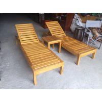 广州品木供应游泳馆酒店泳池实木躺椅户外菠萝格沙滩躺椅