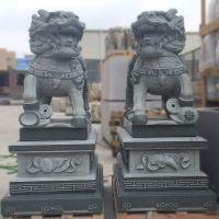 厂家批发招财麒麟雕刻青石花岗岩石雕动物