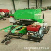 新款鲜草保鲜打捆包膜机 自动青贮秸秆打捆包膜一体机厂家