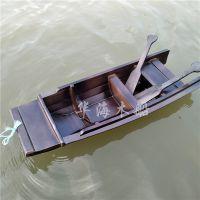 厂家直销仿古小木船 公园景区观光手划船 酒店景观装饰摆件船