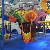 供应新型儿童绳网项目-彩虹树,纯手工涤纶编织,适用各种儿童探险拓展乐园