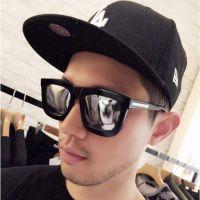 2015新款大方框箭头太阳镜 时尚彩膜太阳眼镜复古反光墨镜潮5069