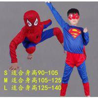 新款男童装蜘蛛侠衣服超人披风幼儿园万圣节创意表演服装角色扮演