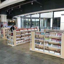 青岛超市货架整体配套 药店西药柜中药柜 玻璃柜台 双面中岛柜 便利店展示架子