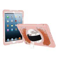 适用苹果iPad 10.5 粉色硅胶保护套 少女粉液体流沙平板保护壳