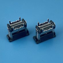 立贴TYPE-C母座/H=7.40mm/180度直立式SMT/USB 3.1/立式贴片