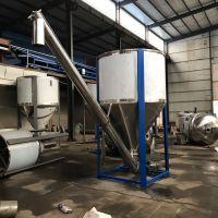阳江1吨塑料塑胶搅拌机不锈钢立式聚氯乙烯颗粒拌料桶仓尼龙化纤加厚混料机