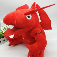 深圳实力厂家定制msi微星大号恐龙企业吉祥物公仔 毛绒玩具定制