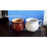 淄博陶瓷厂家生产创意早餐杯,桂格营养麦片杯,大肚蔬菜汤杯