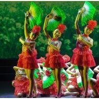 第八届小荷风采俺们会跳花鼓灯儿童亮片演出服女童蓬蓬舞蹈纱裙红