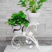 阳台落地式阶梯花盆架客厅室内外花架子欧式铁艺吊兰绿萝花架花几