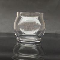 【珀霜】透明吹制小号 水培花瓶容器 玻璃鱼缸小台球厂家直销