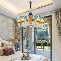 客厅陶瓷吊灯现代简约欧式别墅奢华大气餐厅吊灯简欧卧室吸顶灯具