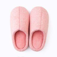 木地板棉拖鞋女式 秋天包头保暖月子鞋纯色防滑家居拖鞋冬季 TPR鞋底